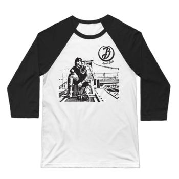 BRIDGE - 3/4 Sleeve Baseball T-shirt - White/Black Thumbnail