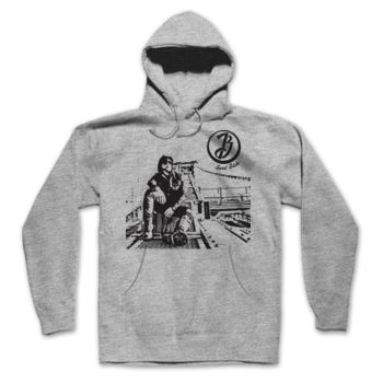 BRIDGE - Hooded Pullover Sweatshirt - Light Heather Gray Thumbnail