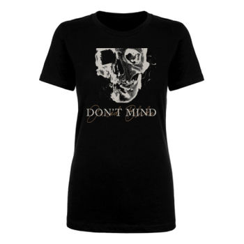 DON'T MIND 2 - Ladies Short Sleeve T-shirt - Black Thumbnail
