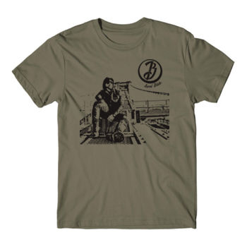 BRIDGE - Short Sleeve T-shirt - Military Green Thumbnail