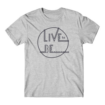 LIVE TO BE Black Outline - Short Sleeve T-shirt - Light Heather Gray Thumbnail
