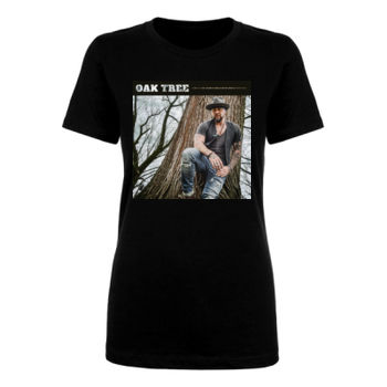 OAK TREE - WOMEN'S SHORT SLEEVE T-SHIRT - BLACK Thumbnail