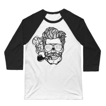 NASHVILLE CARTEL - 3/4 SLEEVE BASEBALL T-SHIRT - WHITE/BLACK Thumbnail